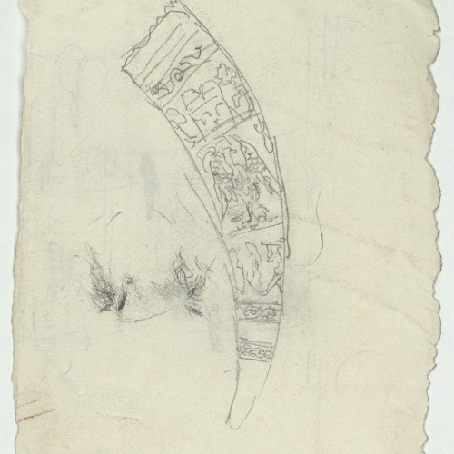 Marià Fortuny - Scimitar sheath - Circa 1863-1867