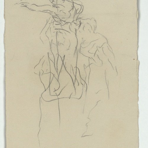 Marià Fortuny - Rough figure sketch - Circa 1867-1872
