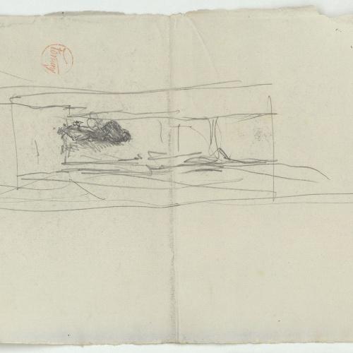 Marià Fortuny - Unidentifiable sketch - Circa 1867-1874