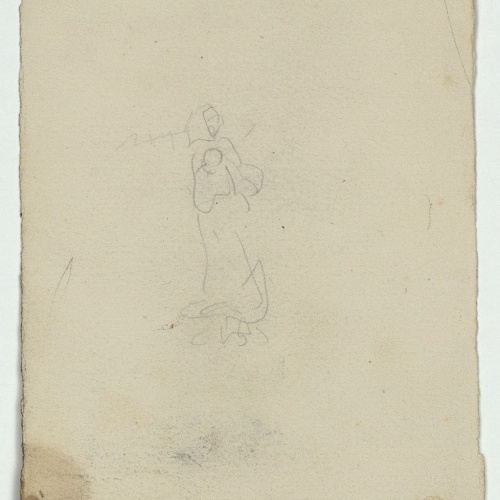 Marià Fortuny - Rough sketch of a female figure  - Circa 1871