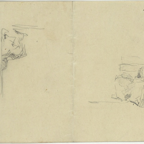 Marià Fortuny - Preliminary drawing of Moroccans - Circa 1860-1862