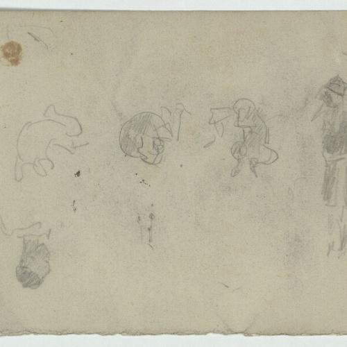 Marià Fortuny - Rough figure sketches - Circa 1871