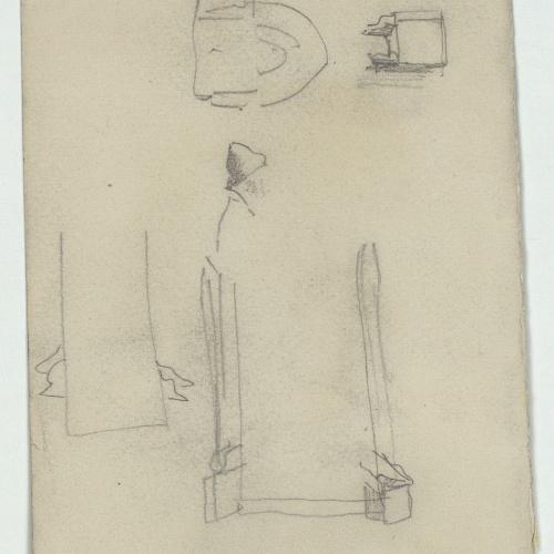 Marià Fortuny - Croquis de detalles arquitectónicos - Hacia 1863-1866