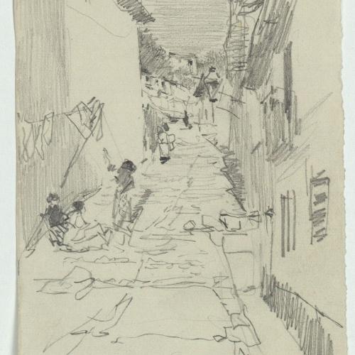 Marià Fortuny - Village street - Circa 1871