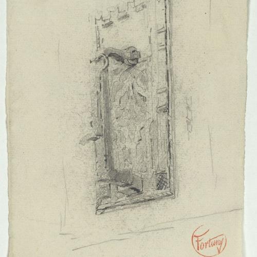 Marià Fortuny - Muslim-style doorhandle - Circa 1870-1872