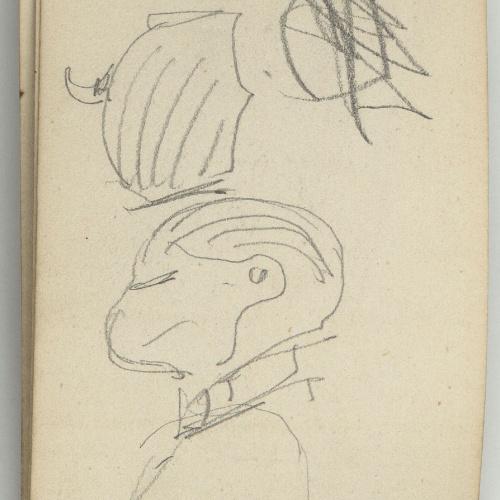 Marià Fortuny - Rough sketch of a bust - Circa 1873