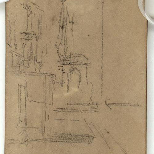 Marià Fortuny - Church interior - Circa 1866-1872