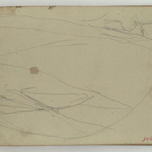 Marià Fortuny - Unidentifiable sketch - Circa 1866-1872