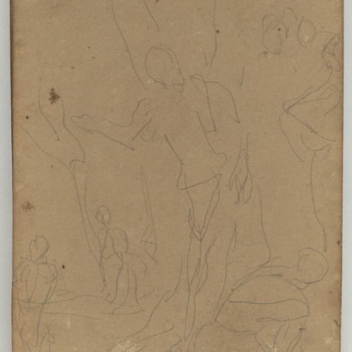 Marià Fortuny - Rough sketch of figures  - Circa 1863-1866
