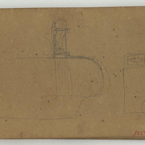 Marià Fortuny - Pedestals [?] - Circa 1863-1866
