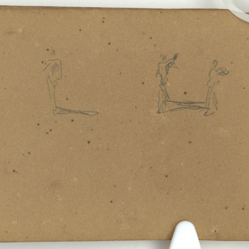 Marià Fortuny - Preliminary drawing of figures  - Circa 1863-1866