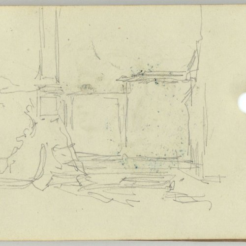 Marià Fortuny - Plinth of a monolith - Circa 1863-1872
