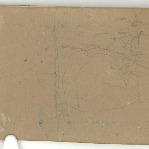 Marià Fortuny - Unidentifiable sketch - Circa 1863-1866