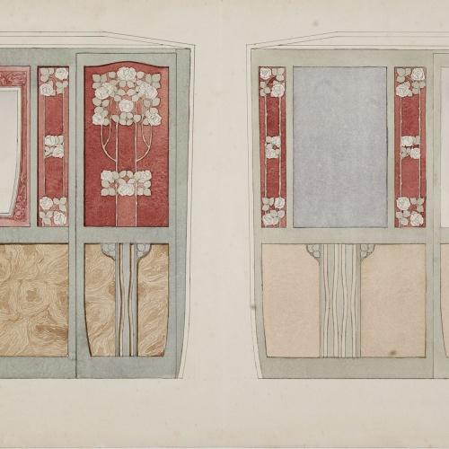 Gaspar Homar - Arrambadors per al saló de la casa Lleó Morera de Barcelona - Cap a 1903-1905