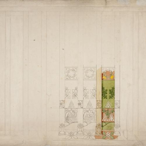 Gaspar Homar - Decoració d'un sostre de la casa Lleó Morera de Barcelona  - Cap a 1903-1905
