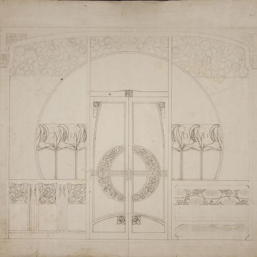 Gaspar Homar - Porta de dues fulles amb arrambador lateral - Cap a 1900-1910