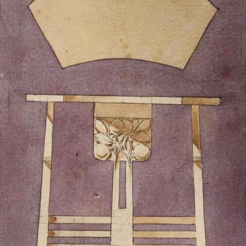 Gaspar Homar - Taula poligonal (vista aèria i frontal) - Cap a 1905