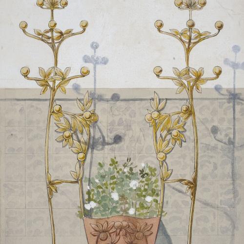 Gaspar Homar - Paraigüer amb jardinera - Cap a 1900-1906