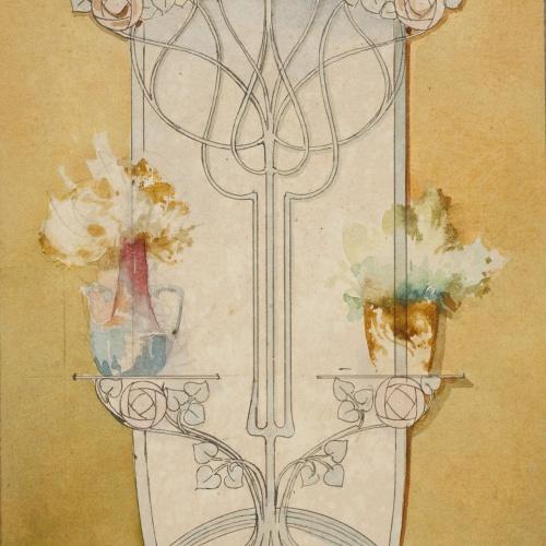 Gaspar Homar - Paraigüer amb mirall - Cap a 1900-1906