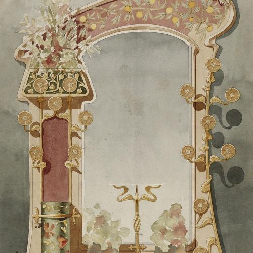 Gaspar Homar - Paraigüer amb mirall - Cap a 1900-1905