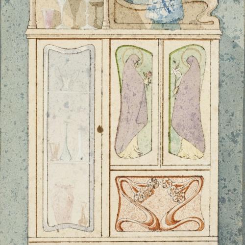 Gaspar Homar - Armari amb plafons de marqueteria - Cap a 1910