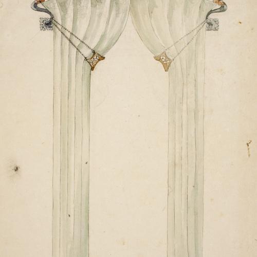 Gaspar Homar - Cortinatge amb galeria - Cap a 1900-1905