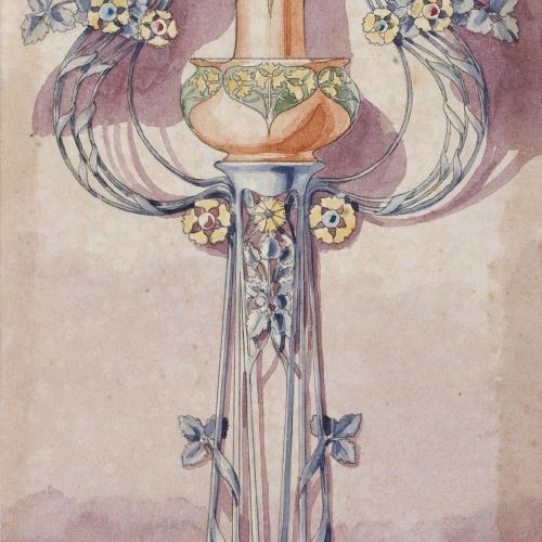 Gaspar Homar - Peu de ferro per a una florera - Cap a 1900-1906