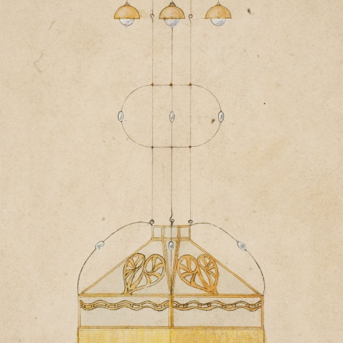 Gaspar Homar - Llum (vista frontal i de secció) - Cap a 1910