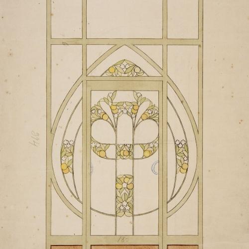 Gaspar Homar - Porta amb vidriera - Cap a 1900-1910