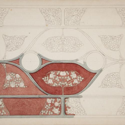 Gaspar Homar - Motius ornamentals per a un sostre del saló de la casa Lleó Morera de Barcelona - Cap a 1903-1905