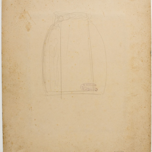Gaspar Homar - Sketch for a cupboard - Circa 1903