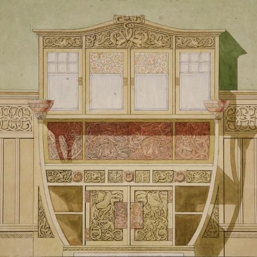 Gaspar Homar - Bufet per a la casa Burés de Barcelona - Cap a 1900