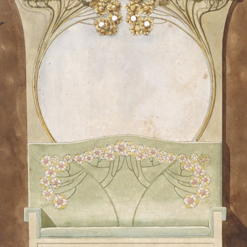 Gaspar Homar - Escó amb mirall - Cap a 1900-1910
