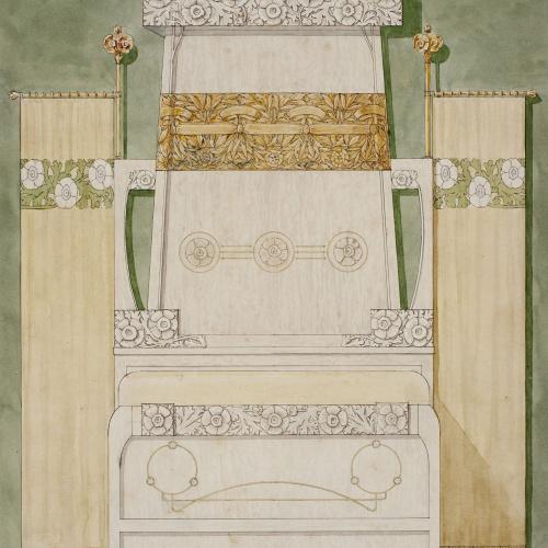 Gaspar Homar - Llit amb capçal ornamentat - Cap a 1900-1906