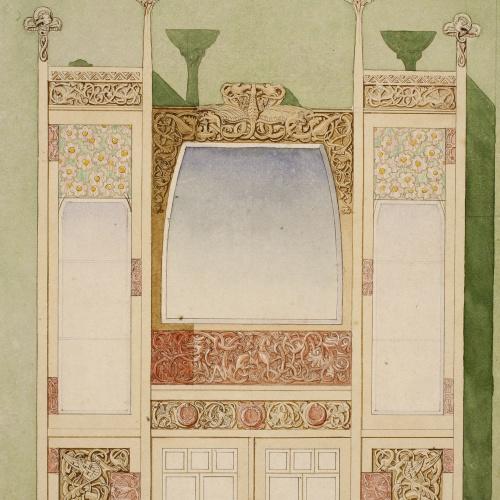 Gaspar Homar - Bufet amb mirall - Cap a 1905