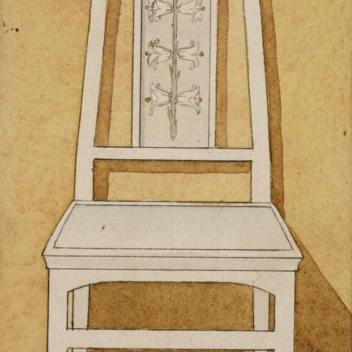 Gaspar Homar - Cadira amb marqueteria - Cap a 1905