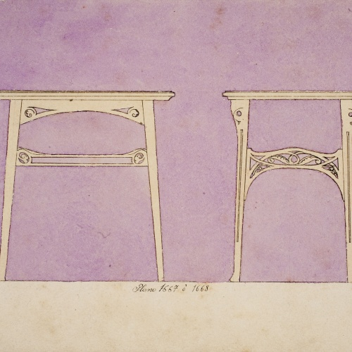 Gaspar Homar - Table (front and side views) - Circa 1900-1906