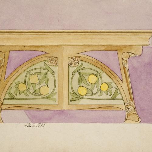 Gaspar Homar - Taula amb plafons de marqueteria - Cap a 1900-1909
