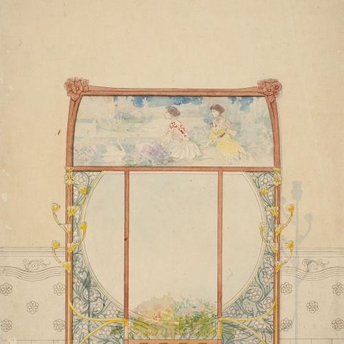 Gaspar Homar - Paraigüer amb plafons de marqueteria i mirall - Cap a 1905