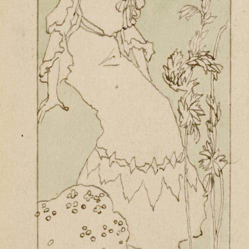 Gaspar Homar - Plafó de marqueteria pel mobiliari de la casa Lleó Morera de Barcelona - Cap a 1903-1905
