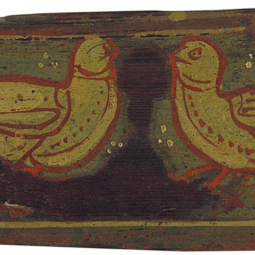 Anònim. Catalunya - Tauleta d'enteixinat amb aus afrontades - Cap a 1300