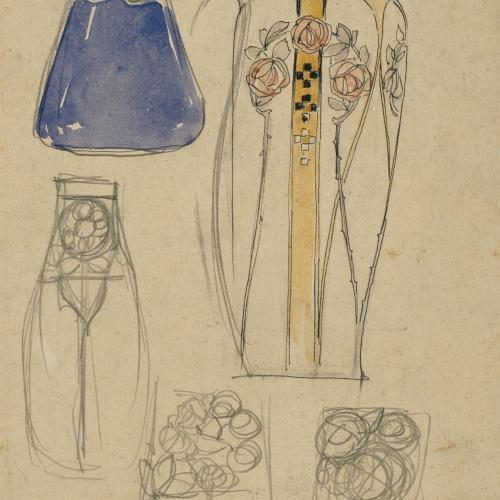 Antoni Serra - Ornamentació per a gerros - Cap a 1904-1908