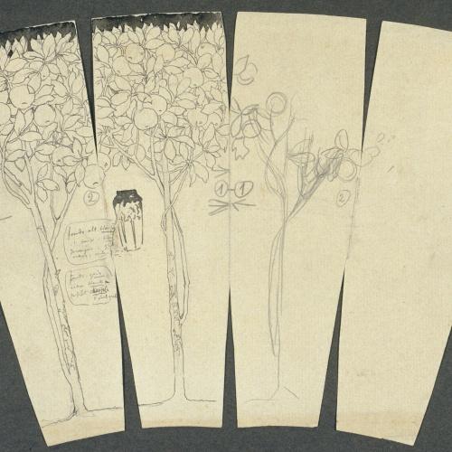 Antoni Serra - Ornamentació per a un gerro - Cap a 1904-1908
