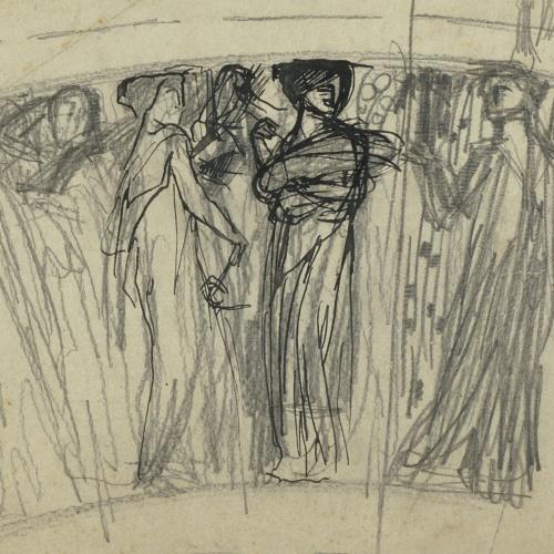 Antoni Serra - Figures femenines per a la decoració d'un gerro - Cap a 1904-1908