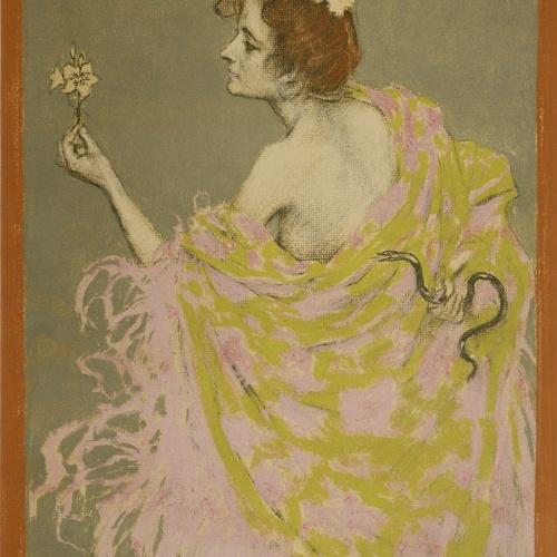 Ramon Casas - Estudi per al cartell «Sífilis» - 1900