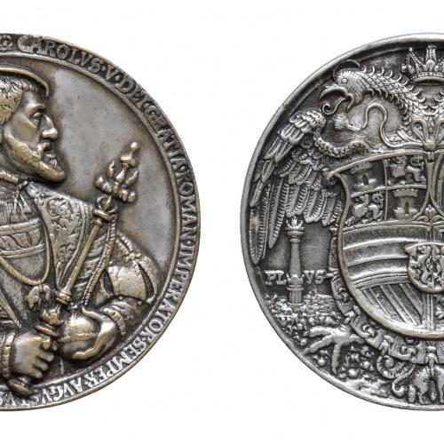 Hans Reinhart dir «El Vell» - Medalla dedicada a l'aniversari de Carles V - 1537