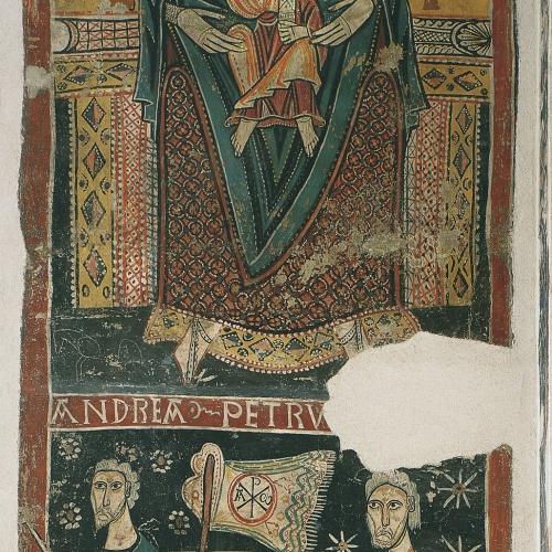 Segon Mestre de Sorpe - Maria entre l'Església i la Sinagoga i Barca de l'Església de Sorpe - Mitjan segle XII