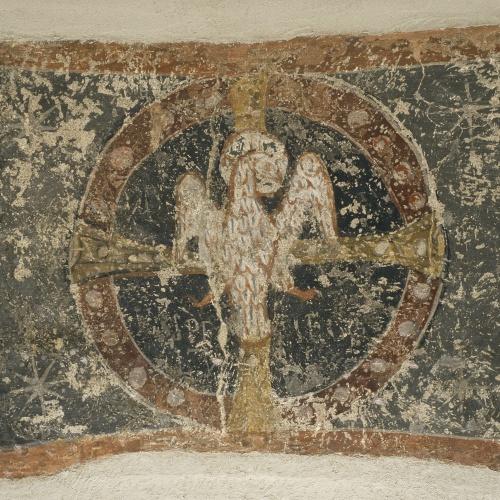Tercer Mestre de Sorpe - Esperit Sant sobre la creu i dins un clipeus de Sorpe - Mitjan segle XII
