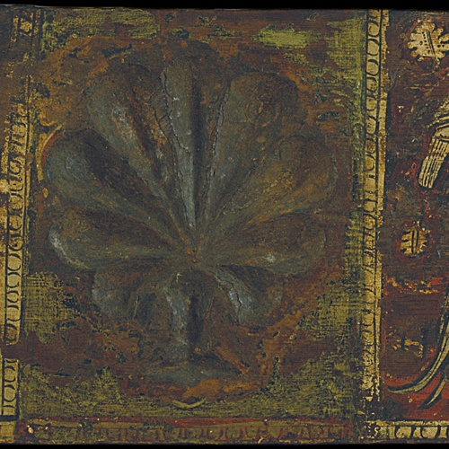 Anònim. Catalunya - Taula d'enteixinat amb palmeta i ocells - Cap a 1300
