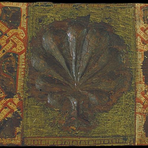 Anònim. Catalunya - Taula d'enteixinat amb palmeta i motius entrellaçats - Cap a 1300